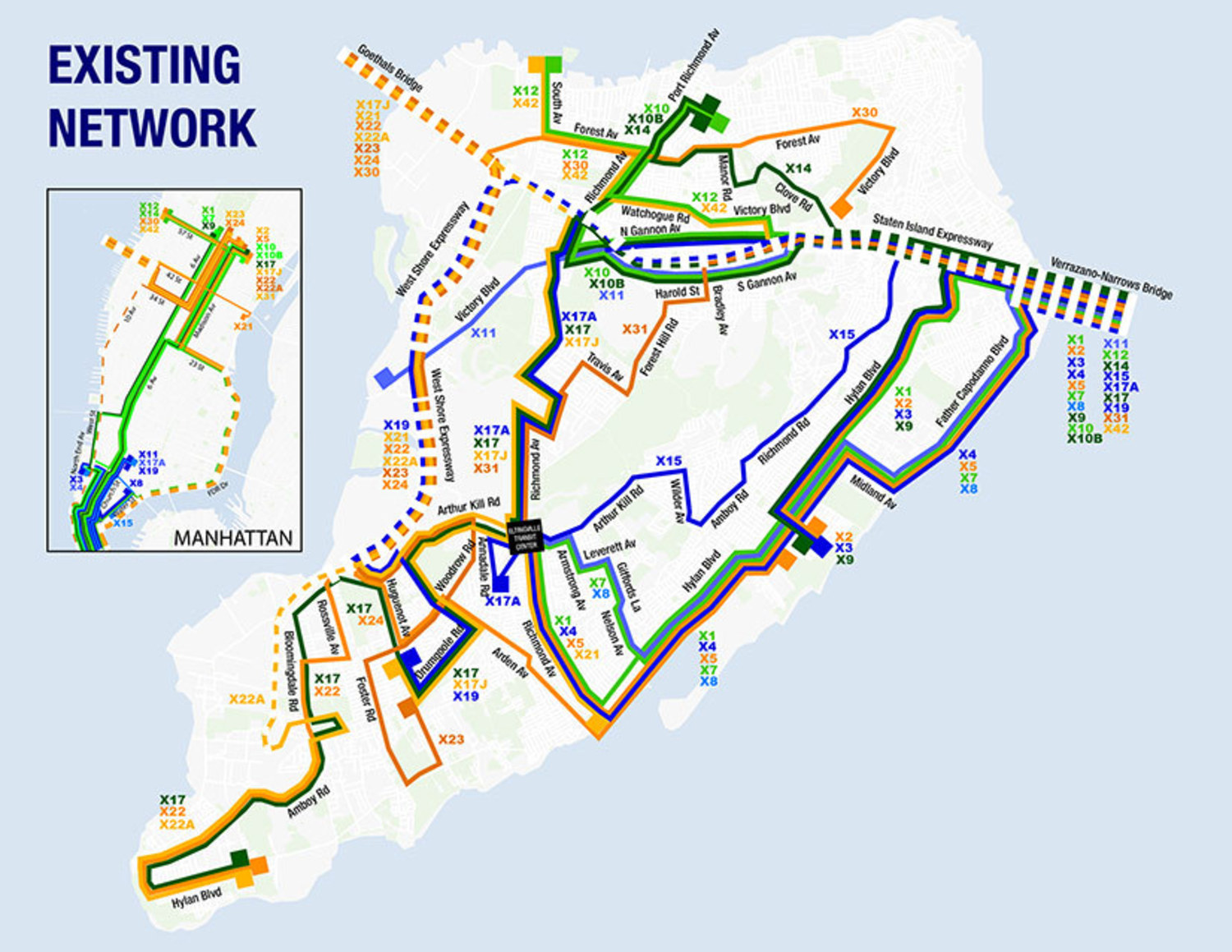 Staten Island Bus Map MTA is Giving Staten Island Some Newly Redesigned Express Bus  Staten Island Bus Map