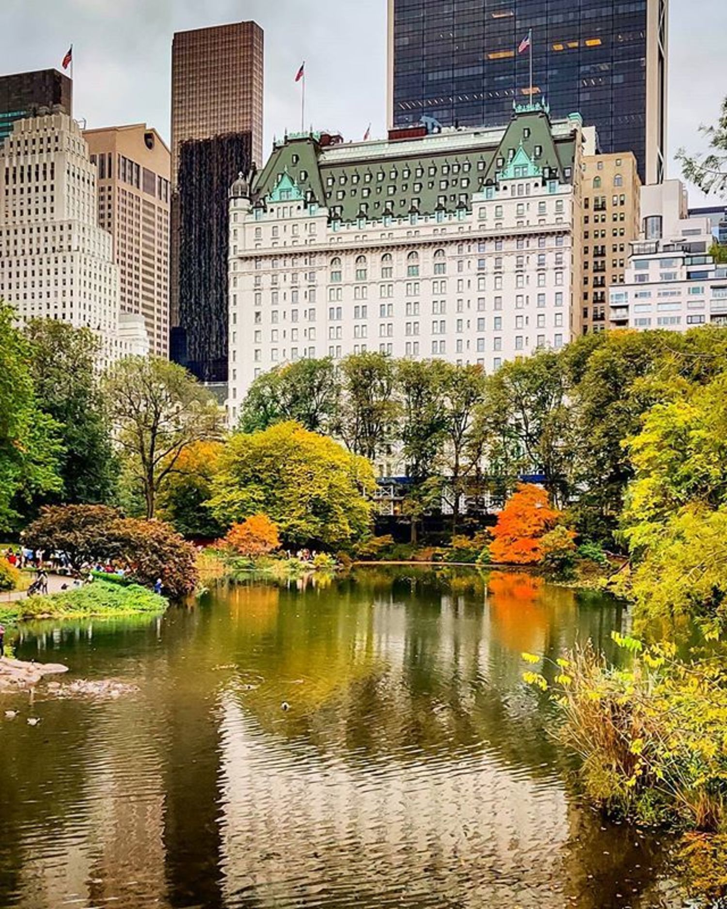 Plaza Hotel from Central Park, Manhattan