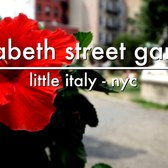 Elizabeth Street Garden in Little Italy, New York City