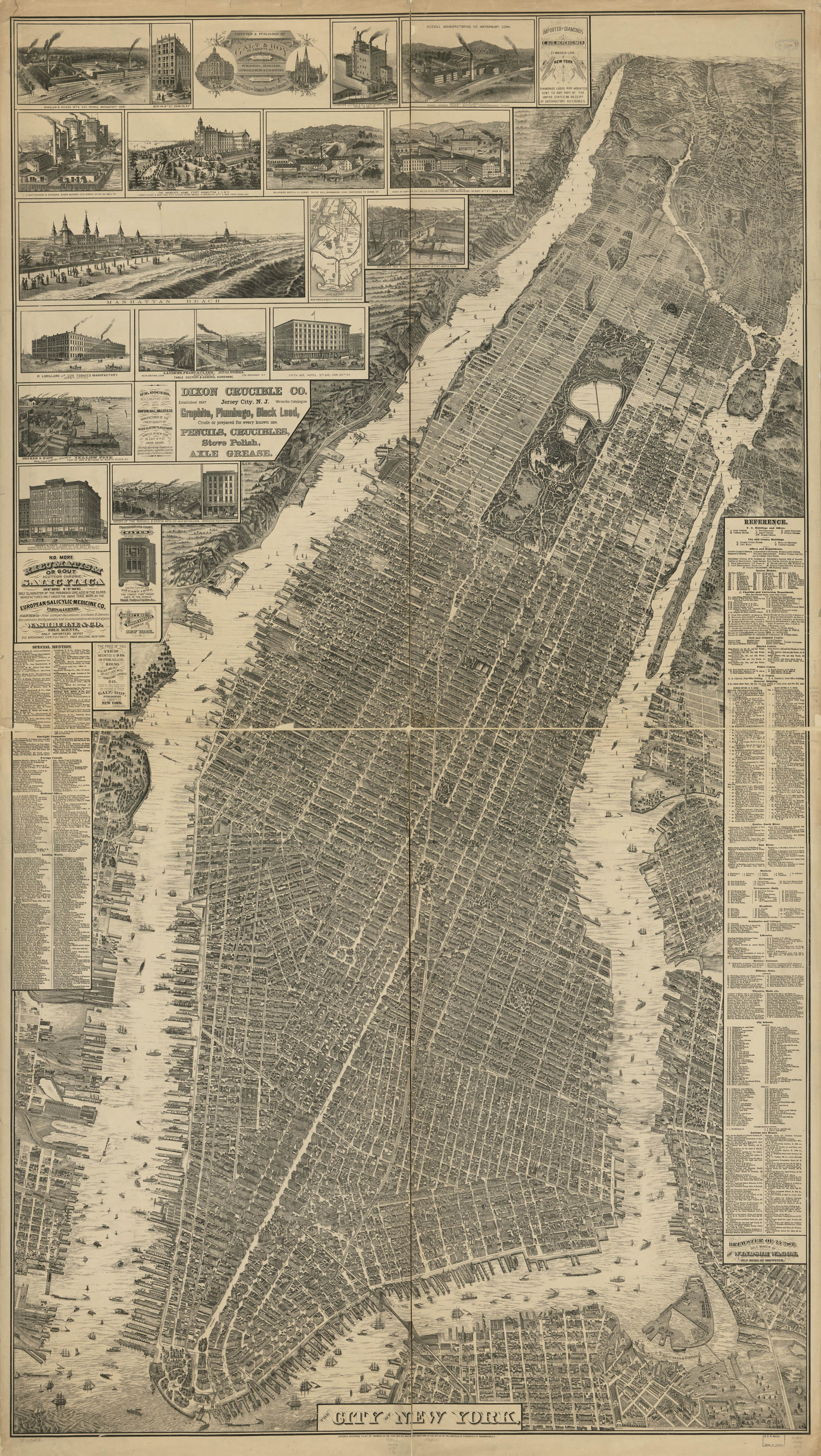 Map Of Old New York.Check Out This Incredibly Detailed Vintage Map Of The City Of New