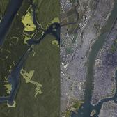 Manhattan in 1609 and 2017
