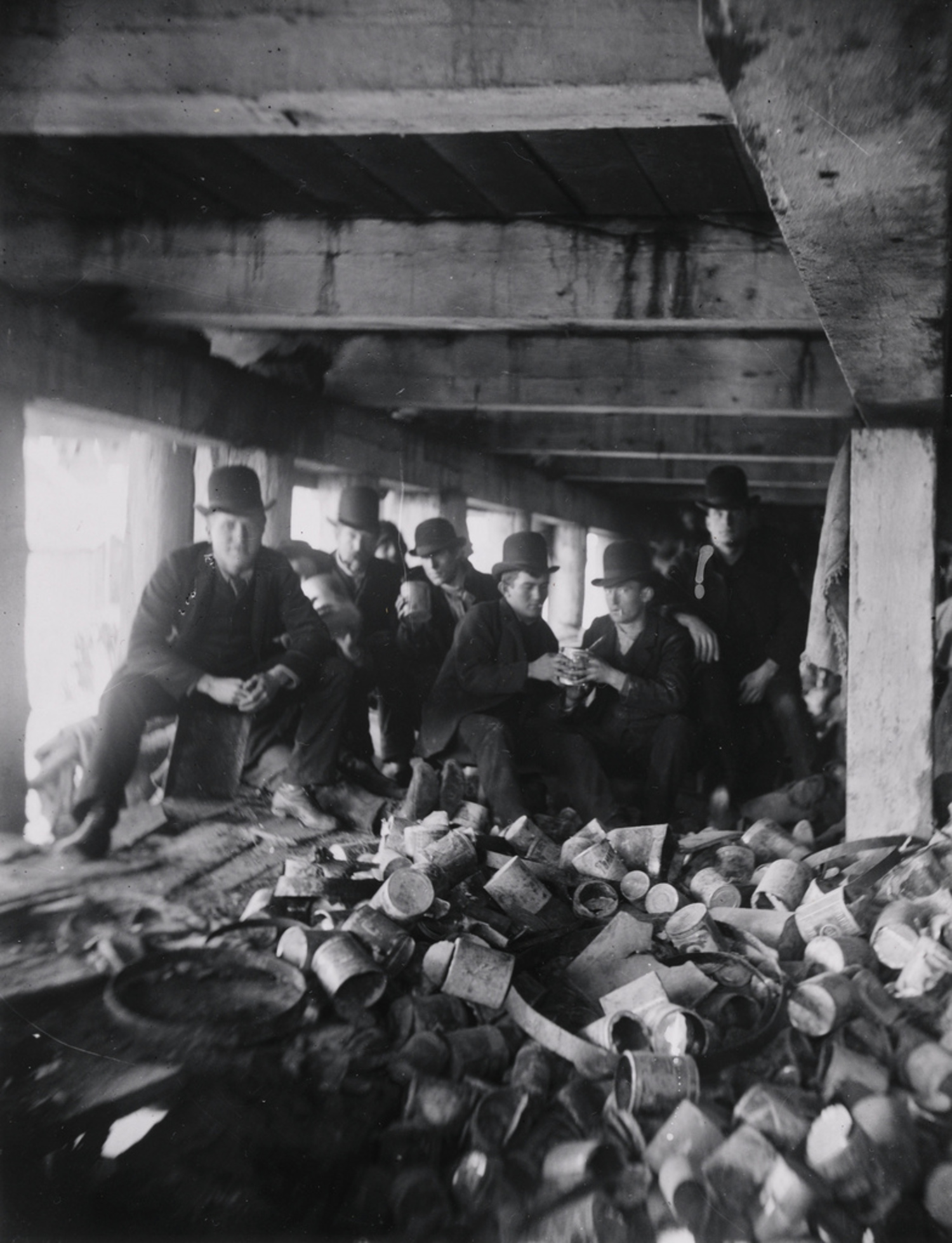 """The Short Tail gang"" Under the Pier at the Foot of Jackson Street. (Now Corlears Hook Park)"