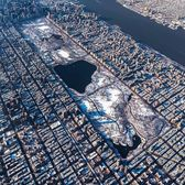 Snow-covered Central Park, New York, New York
