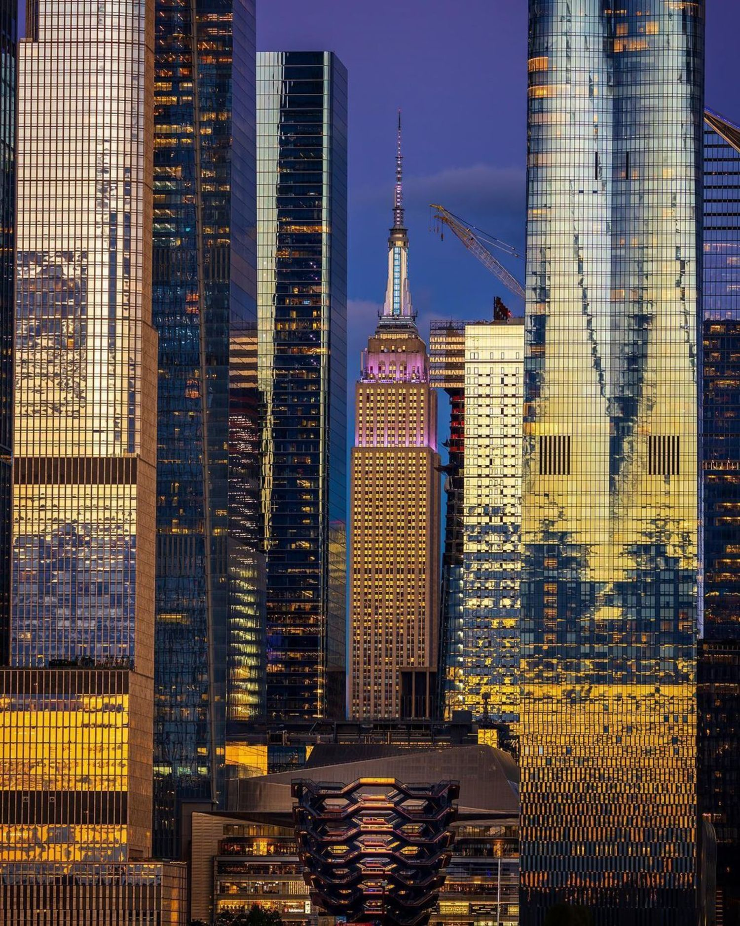 Empire State Building through Hudson Yards, Manhattan