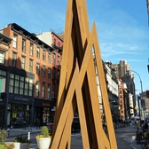 "Bernar Venet's ""Disorder: 9 Uneven Angels"" in Union Square"