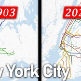 New York City Subway expansion animated 1868-2020