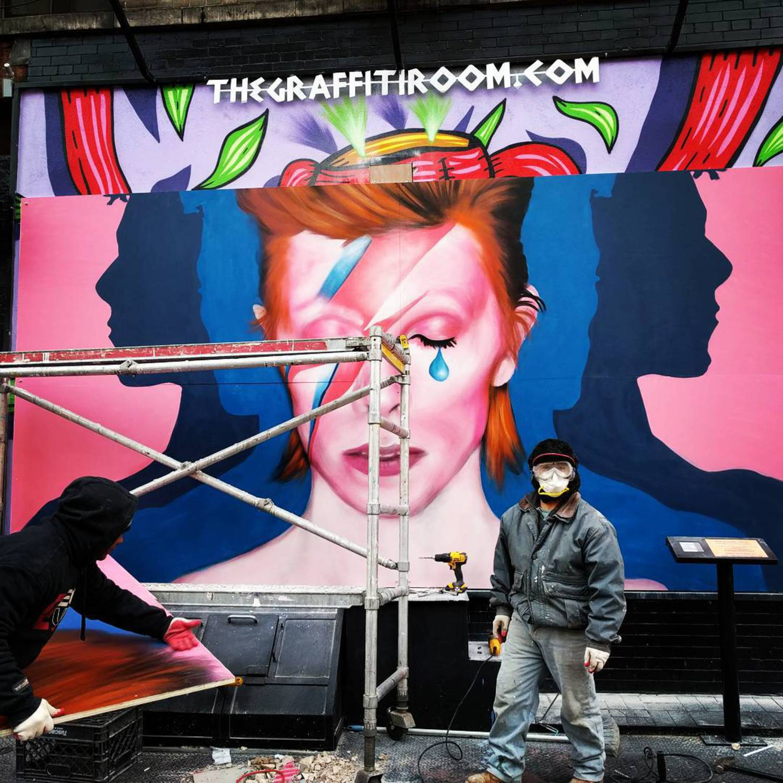 #davidbowie #inprogress #bowie #nyc #graffiti #streetart