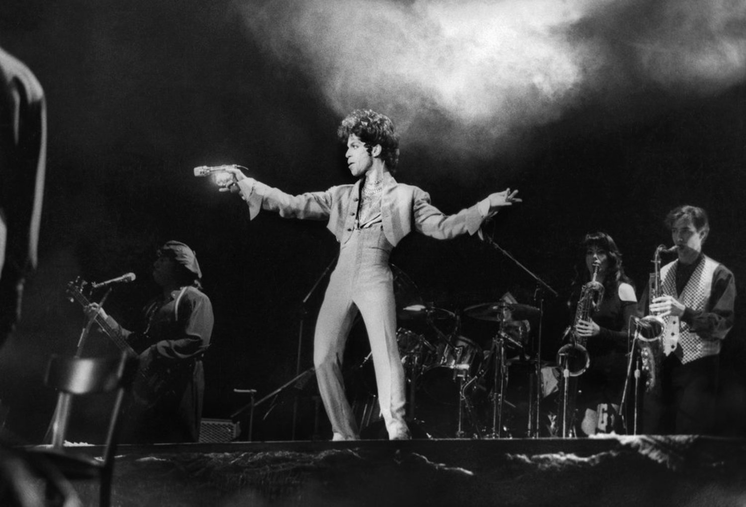 "March 24, 1993: Prince at Radio City Music Hall. ""He has been making albums since 1978, most of them as a one-man band, and while rhythms and techniques have evolved through the years, Prince's ambition to be all seducers to all listeners has barely wavered,"" reviewed The Times. ""The attempts he made at social relevance in the mid-1980's have vanished; now, it's back to the bedroom."""