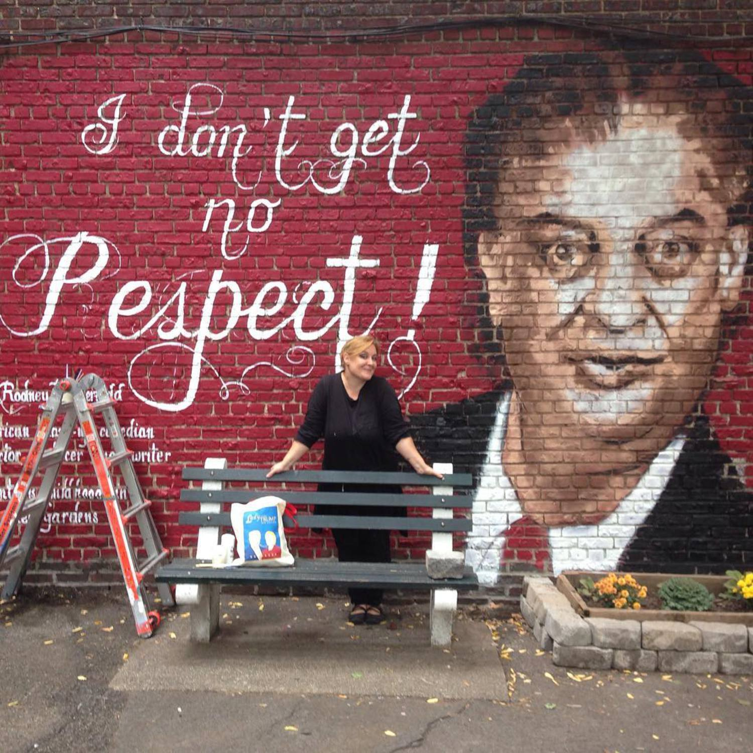 Almost done! #rodneydangerfield #mural in the making #queens #kewgardens #literarypaitings @literarypaintings @501seestreets