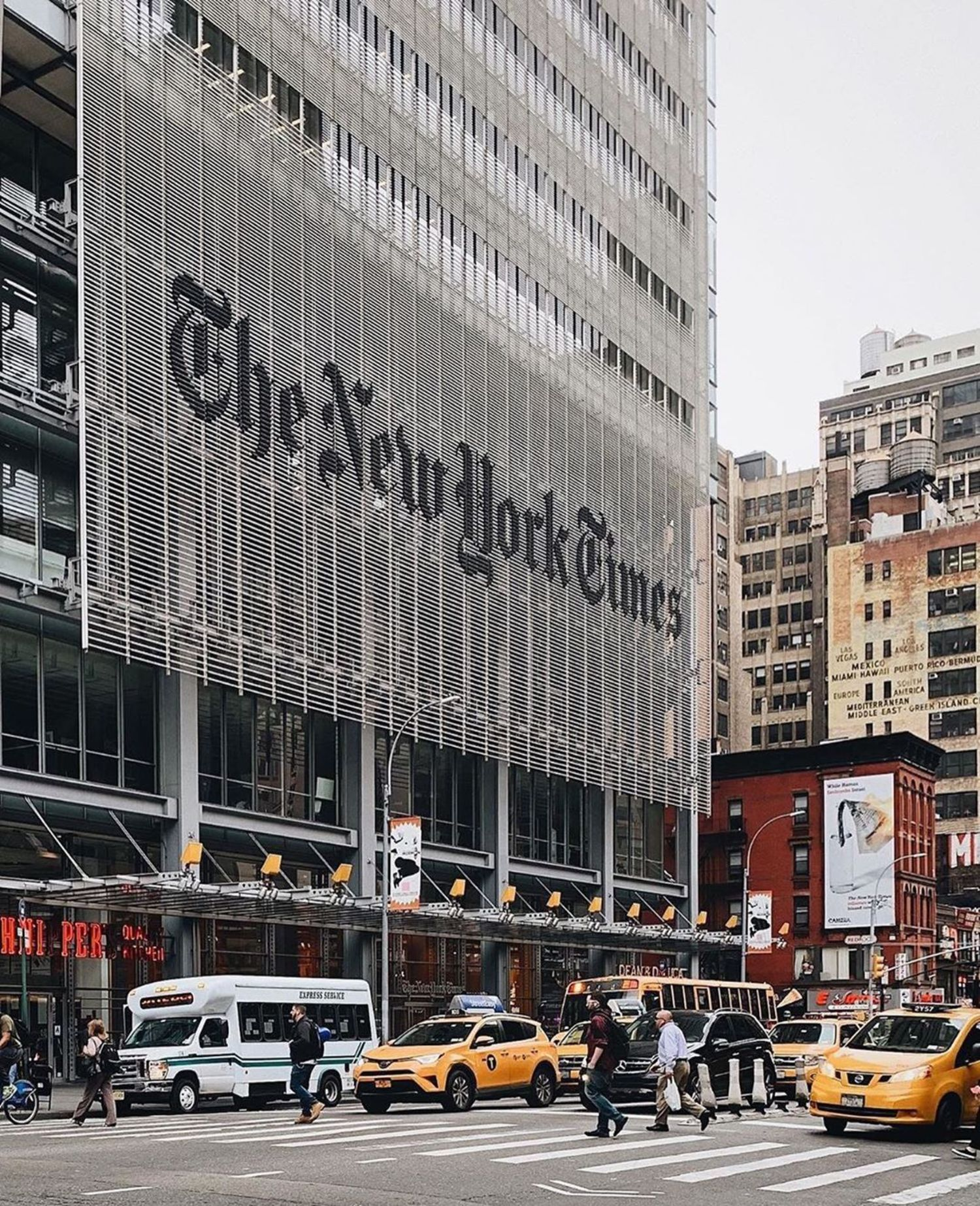 The New York Times building, Midtown, Manhattan.
