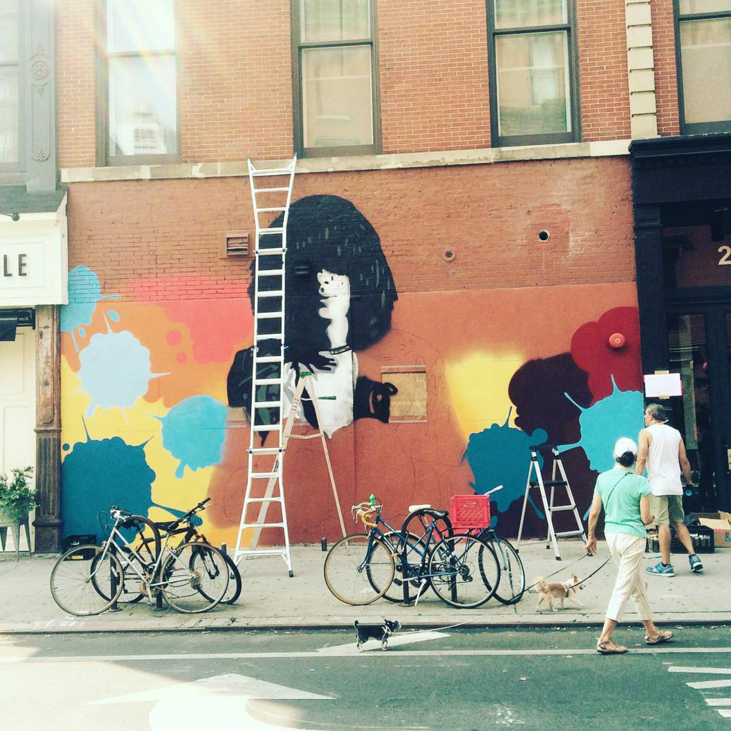 Kicking of Joey Ramone mural with @crashone @thelisaprojectnyc @lomanartfest