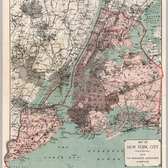 "A map of the ""Greater New York"" issued by the Merchants Association of New York in 1897."