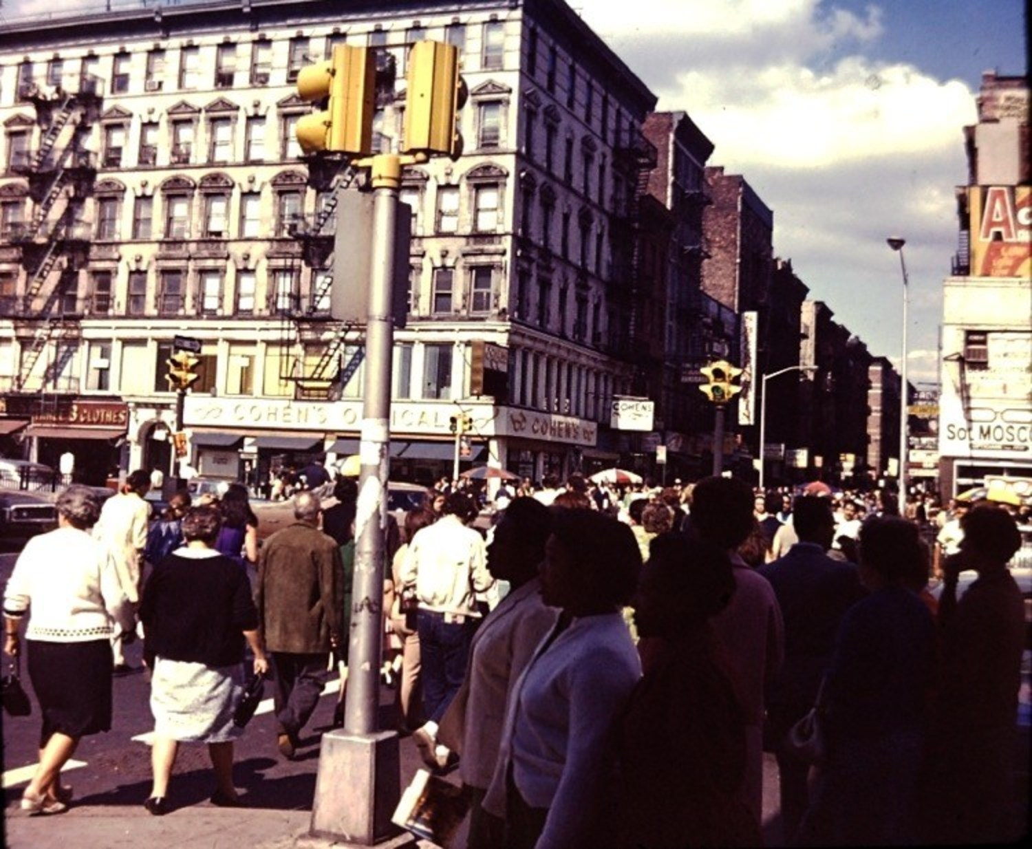 Delancey Street at Orchard Street, 1969.