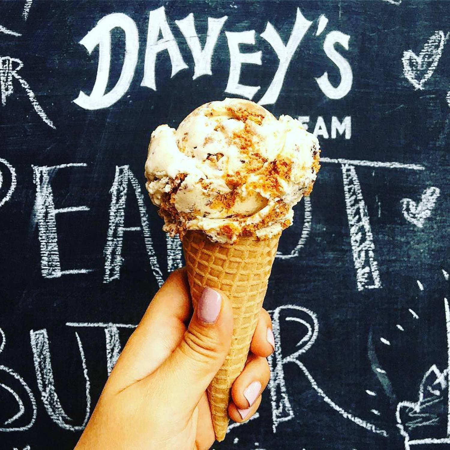 "We now return to our regularly scheduled programming... 😉😉😉 - 💬 ""Here's to a warm day in fall with a Speculoos ice cream from @daveysicecream! THIS WAS SO GOOD BTW."" #icecreamfam #fallhype #daveysicecream #williamsburg #nyc – 📸 Repost: @adelamou ✨✨✨"