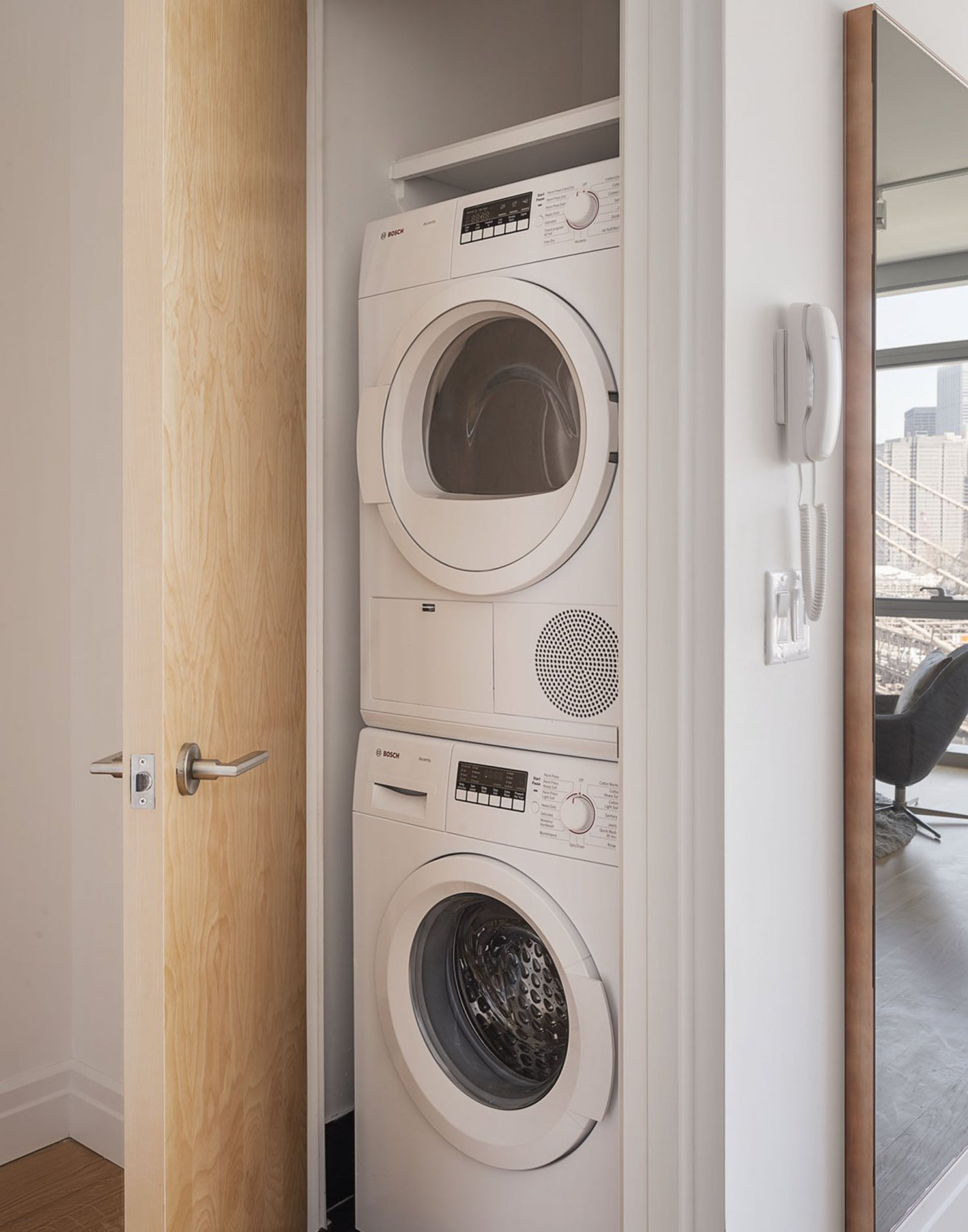 There's even an in-unit washer and dryer — the pinnacle of New York City apartment living.