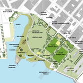 A design from the park, taken from a 2005 Greenpoint – Williamsburg master plan created by Mayor Bloomberg's administration.