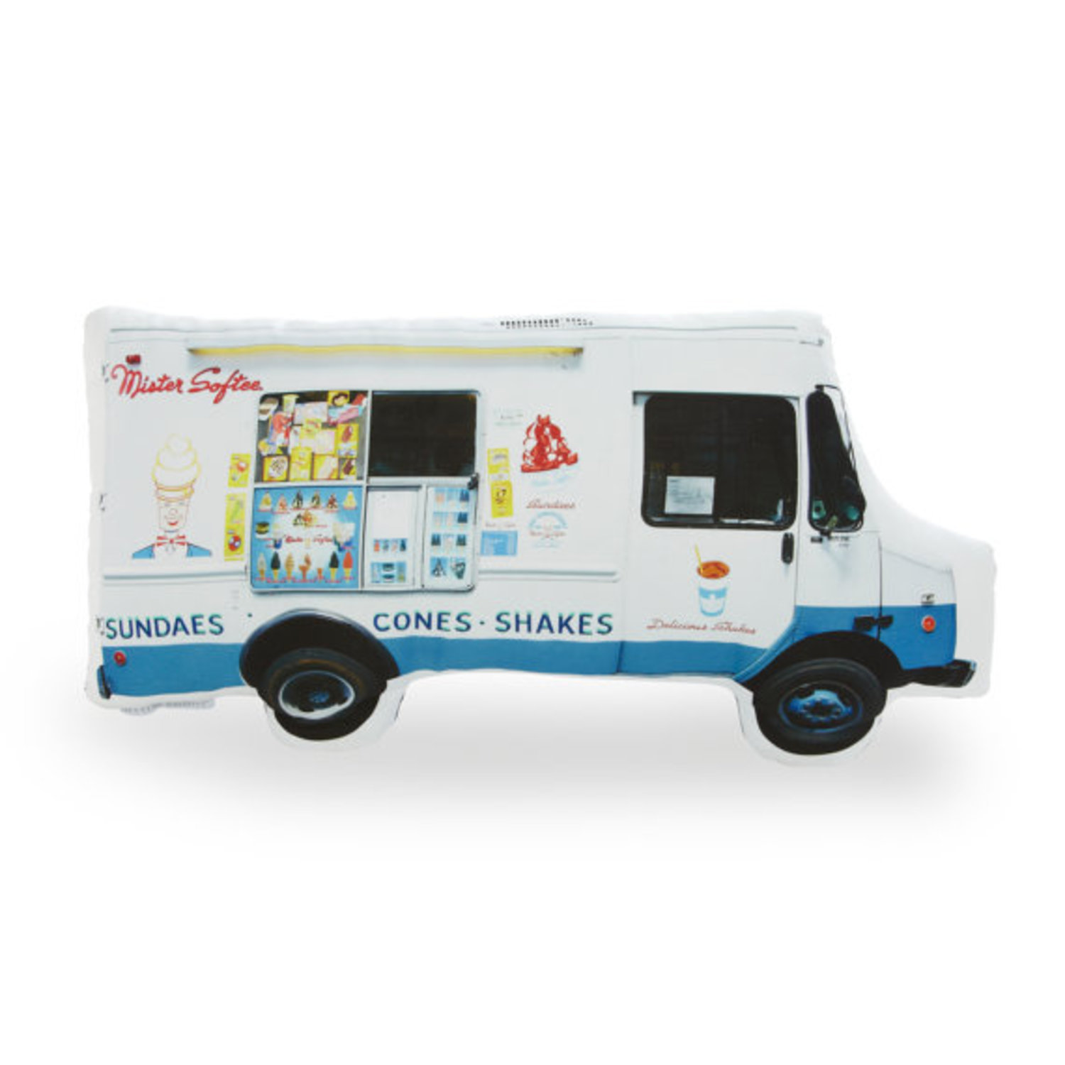 Mister Softee Ice Cream Truck Printed Pillow