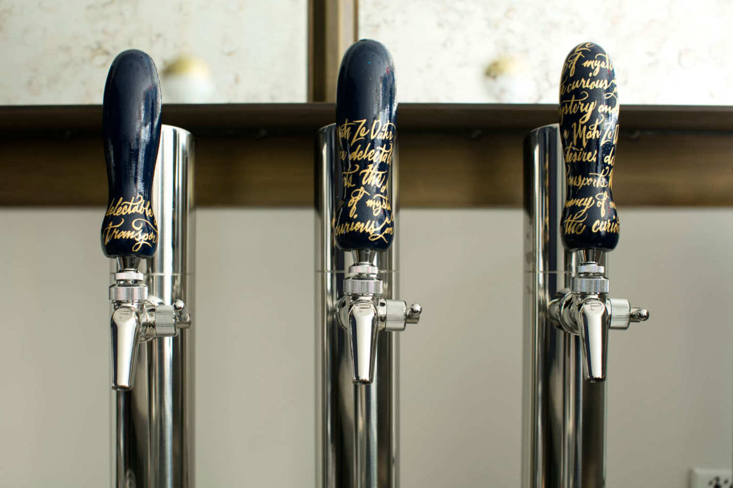 On tap: cold-brewed Intelligentsia coffee, iced tea, and sparkling water.