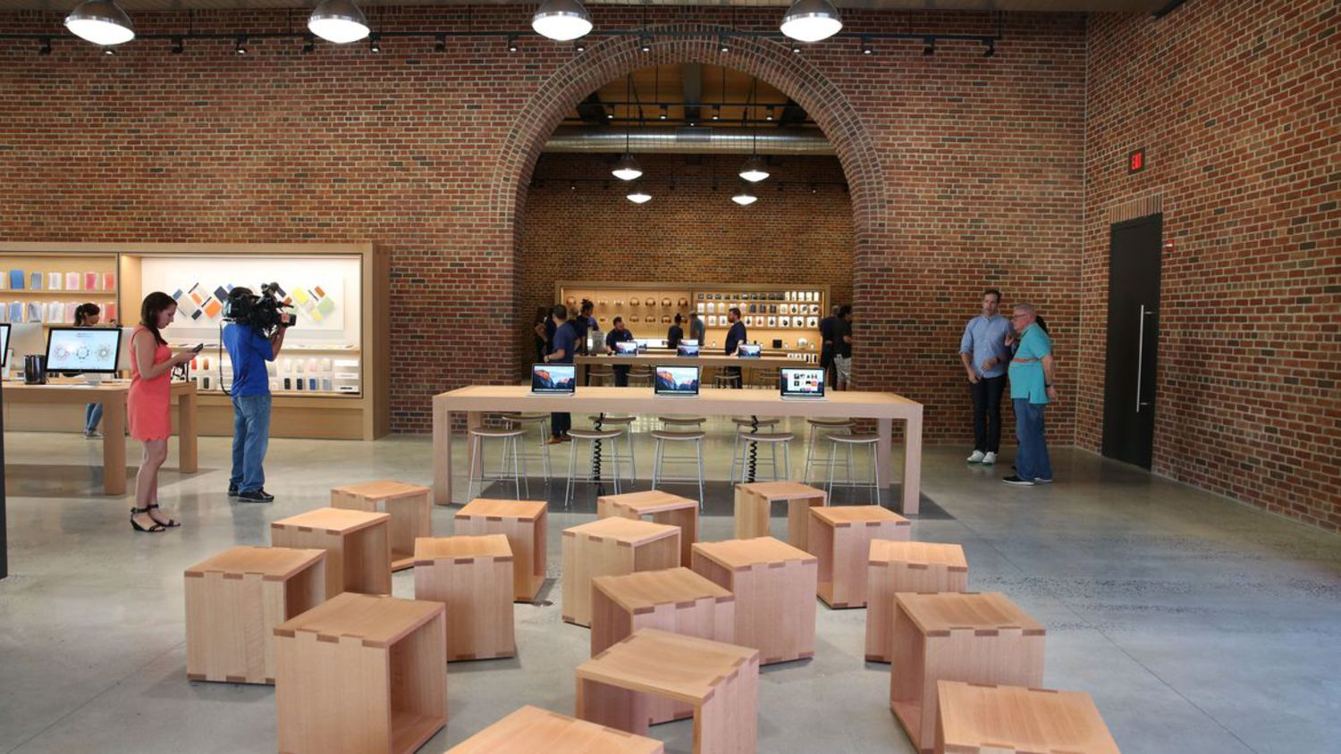 """The central part of the store is taken up with a """"forum"""" seating area."""