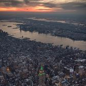 Sunset over Manhattan and New Jersey