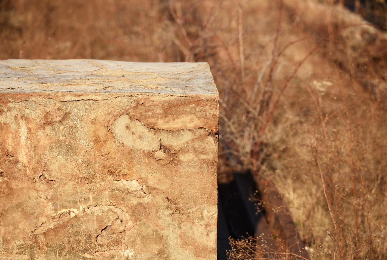 "Colorful Cube   Detail of Adrián Villar Rojas' <a href=""http://art.thehighline.org/project/adrianvillarrojas/"" rel=""nofollow""><em>The Evolution of God</em></a> in Rail Yards at the High Line"