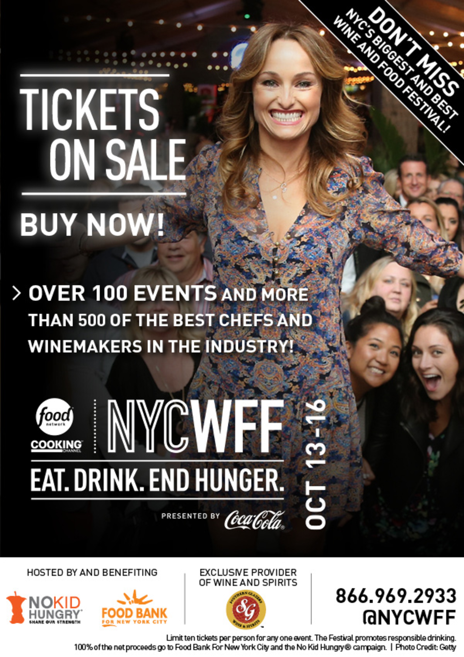 Tickets on Sale Now for the 2016 New York City Wine and Food Festival