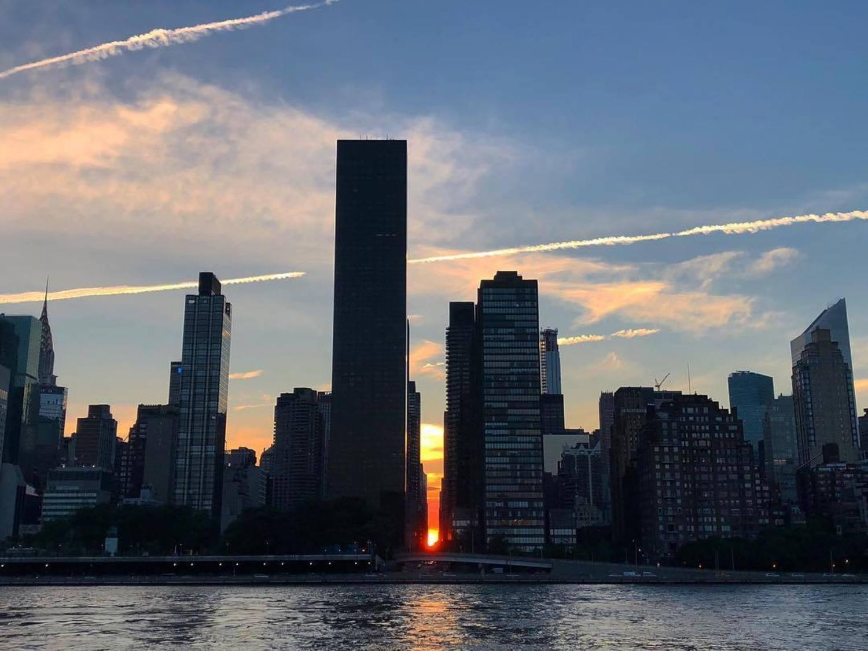 Manhattanhenge 2018 😍 - 🌇