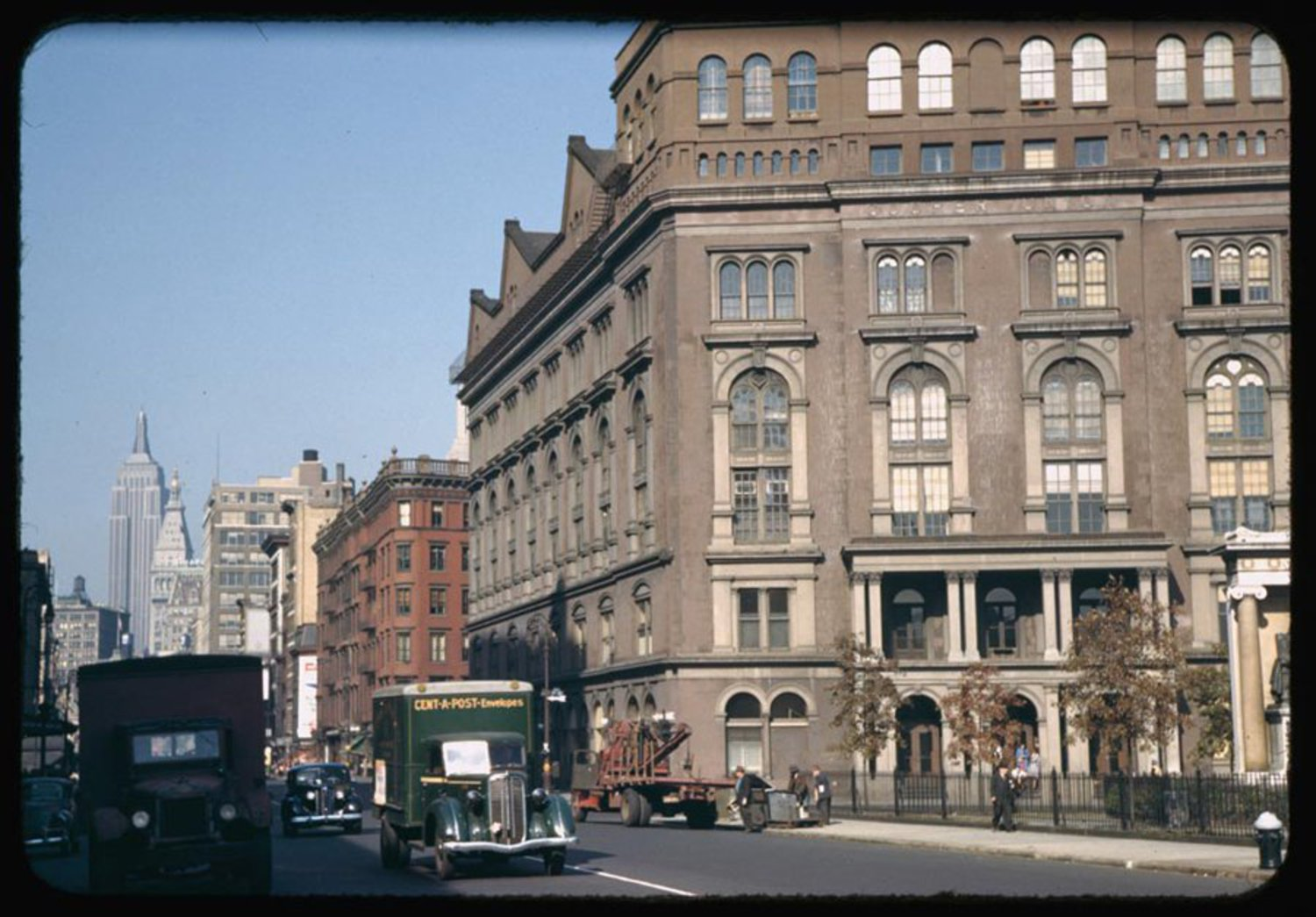 Cooper Union, pictured here on the right, opened in 1859.