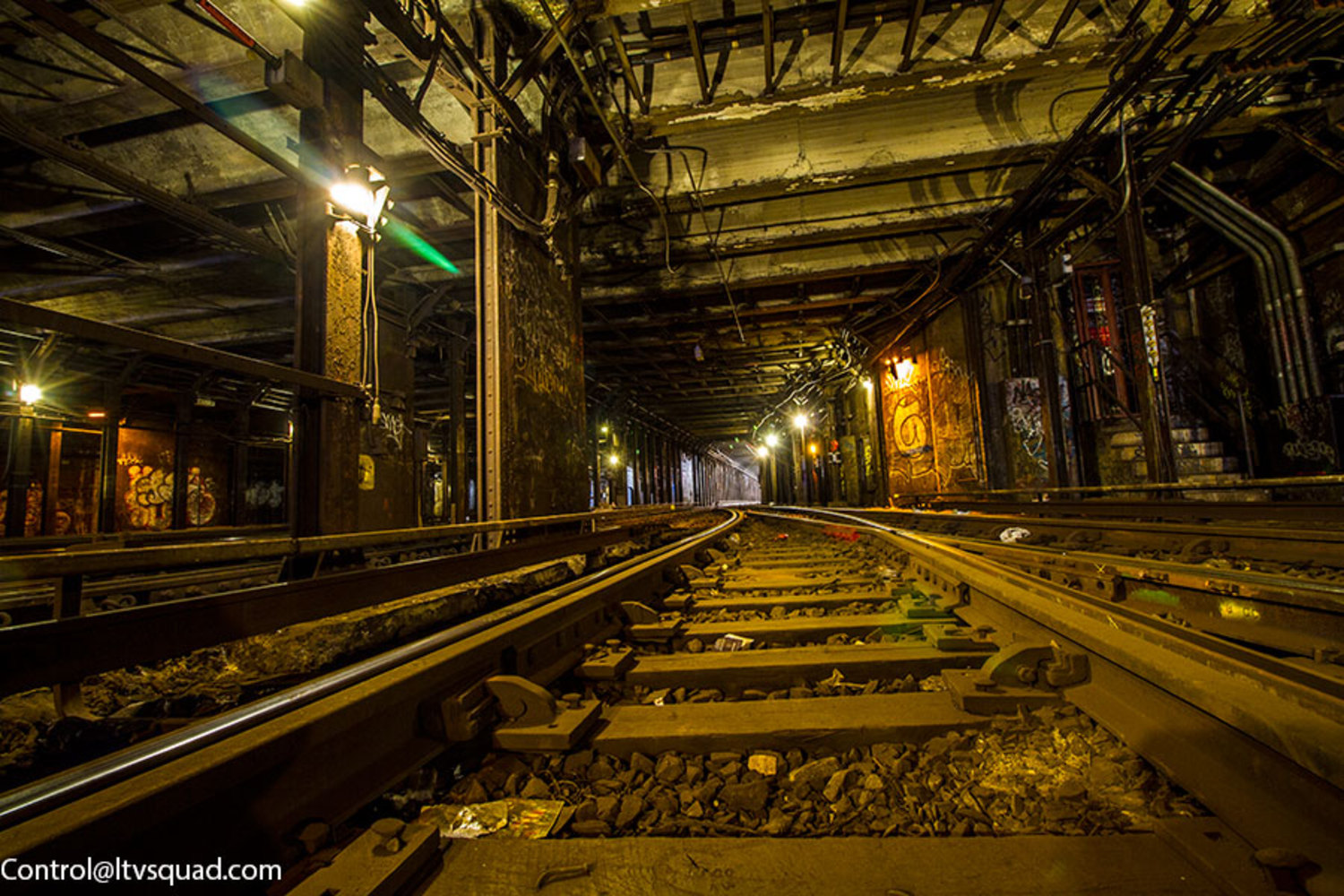 The 137th street subway yard is one of the few subway yards built in NYC that is entirely underground.
