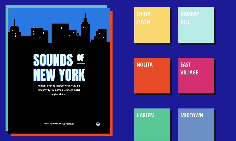 Sounds of New York (screenshot)