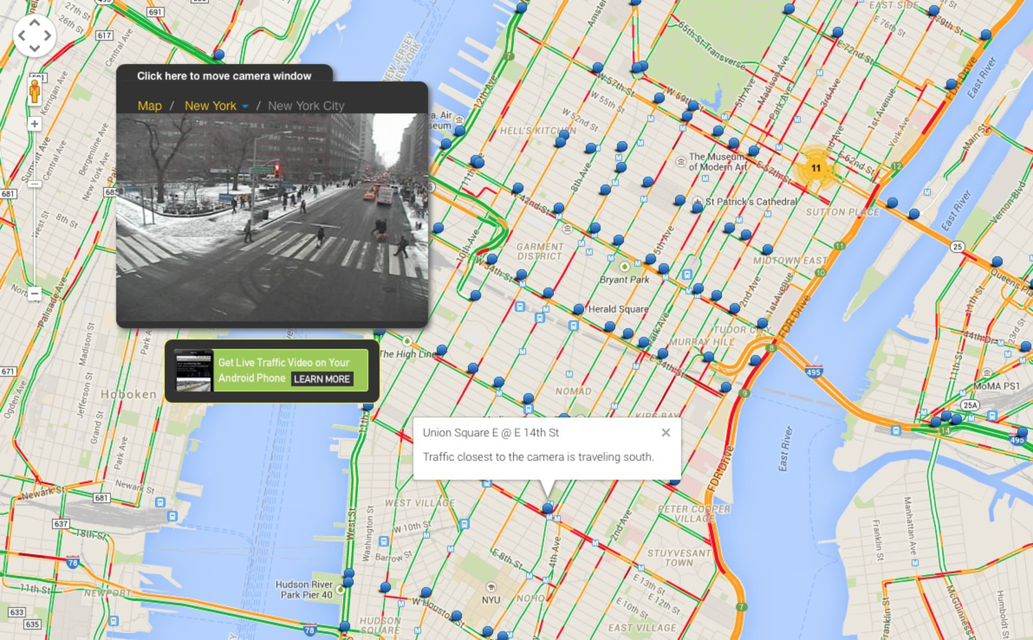 Website Provides Hundreds Of Live Traffic Cam Feeds Of New York City