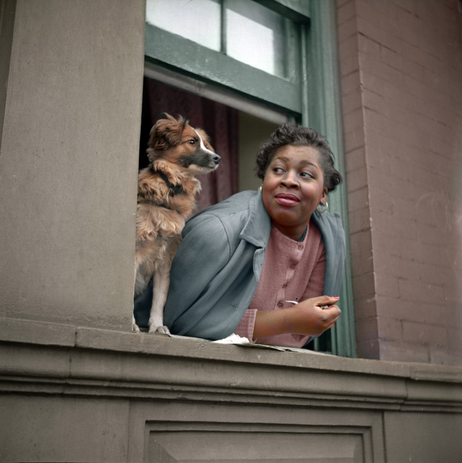 Colorized 1943 photo
