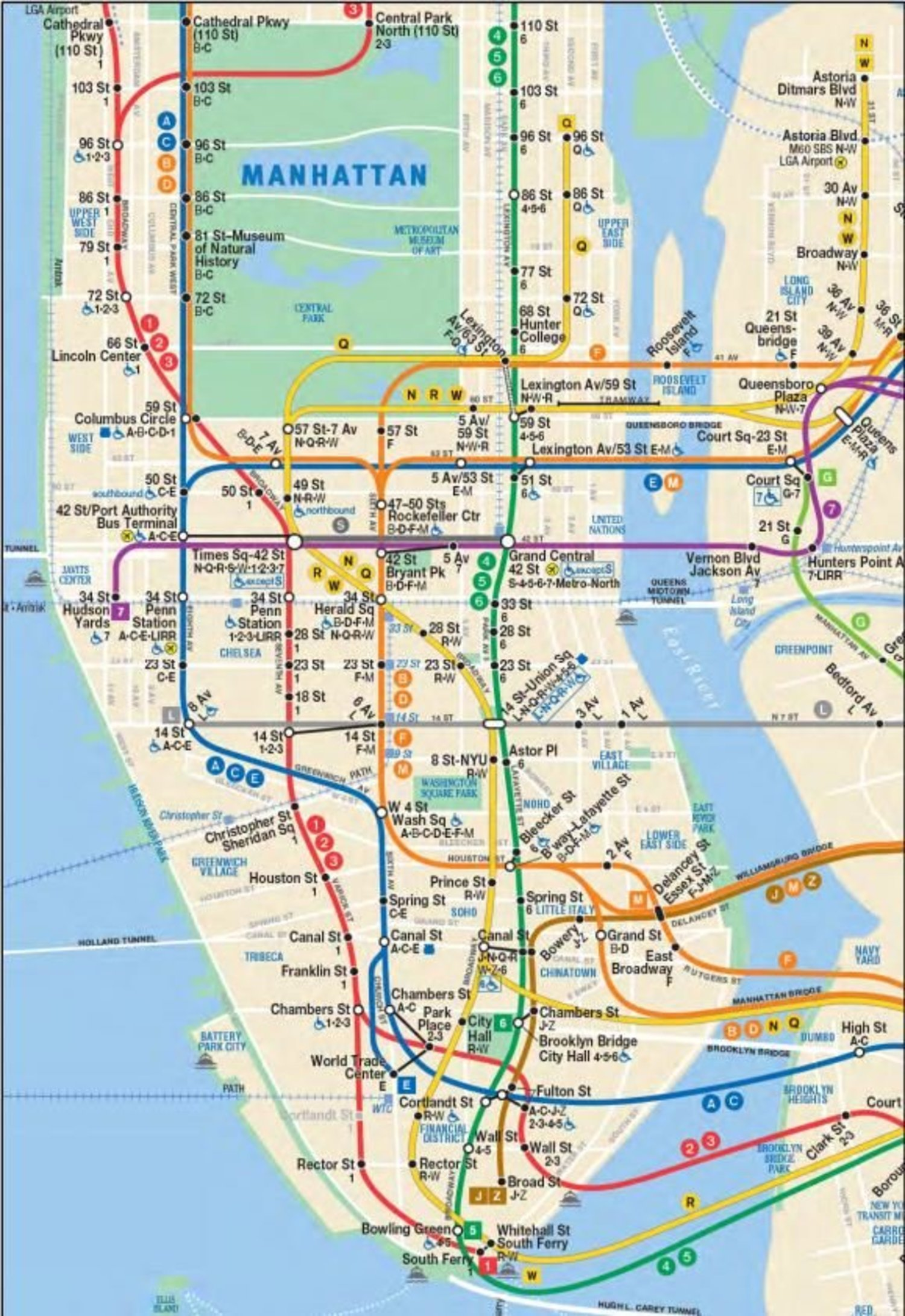 Astoria Subway Map.Map Shows Subway Map Updated For 2nd Ave Subway And Restored W Train