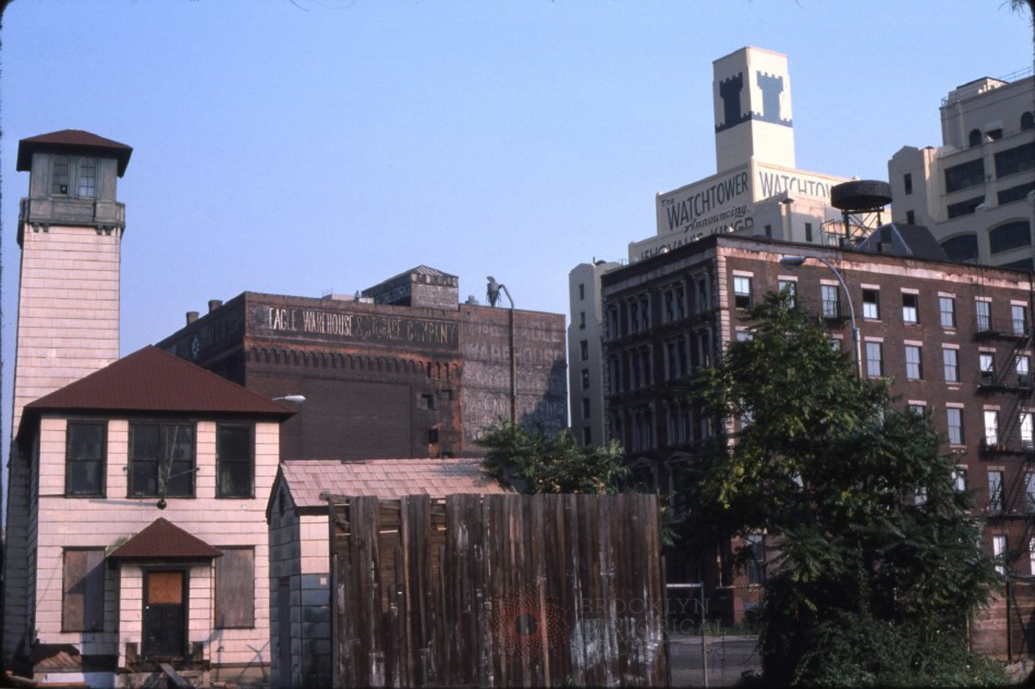 Images of the Fulton Ferry area in 1975