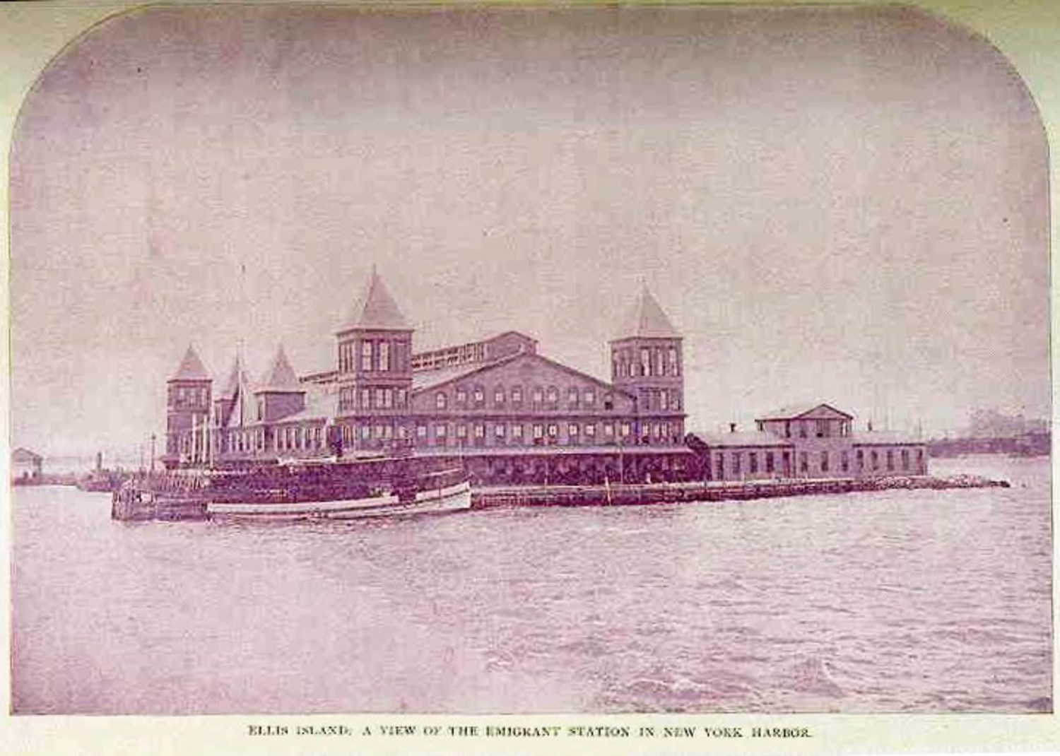 The 1st Ellis Island Processing Building (circa 1896) – Burnt Down in 1897