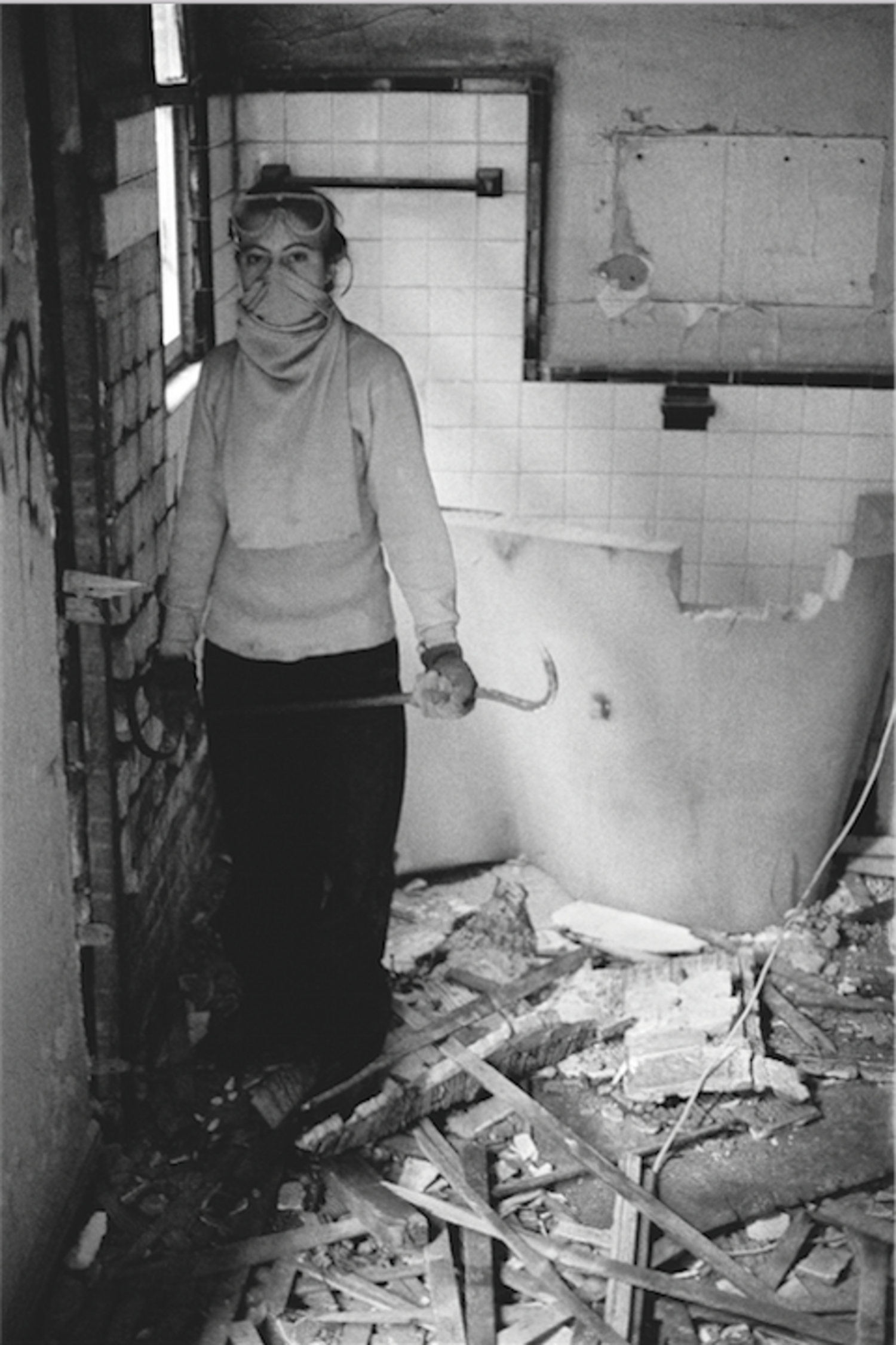 Toby on a Demolition Day, Fifth Street Squat, 1994