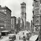 View looking up Broadway from 39th Street to the Times Building, 1903