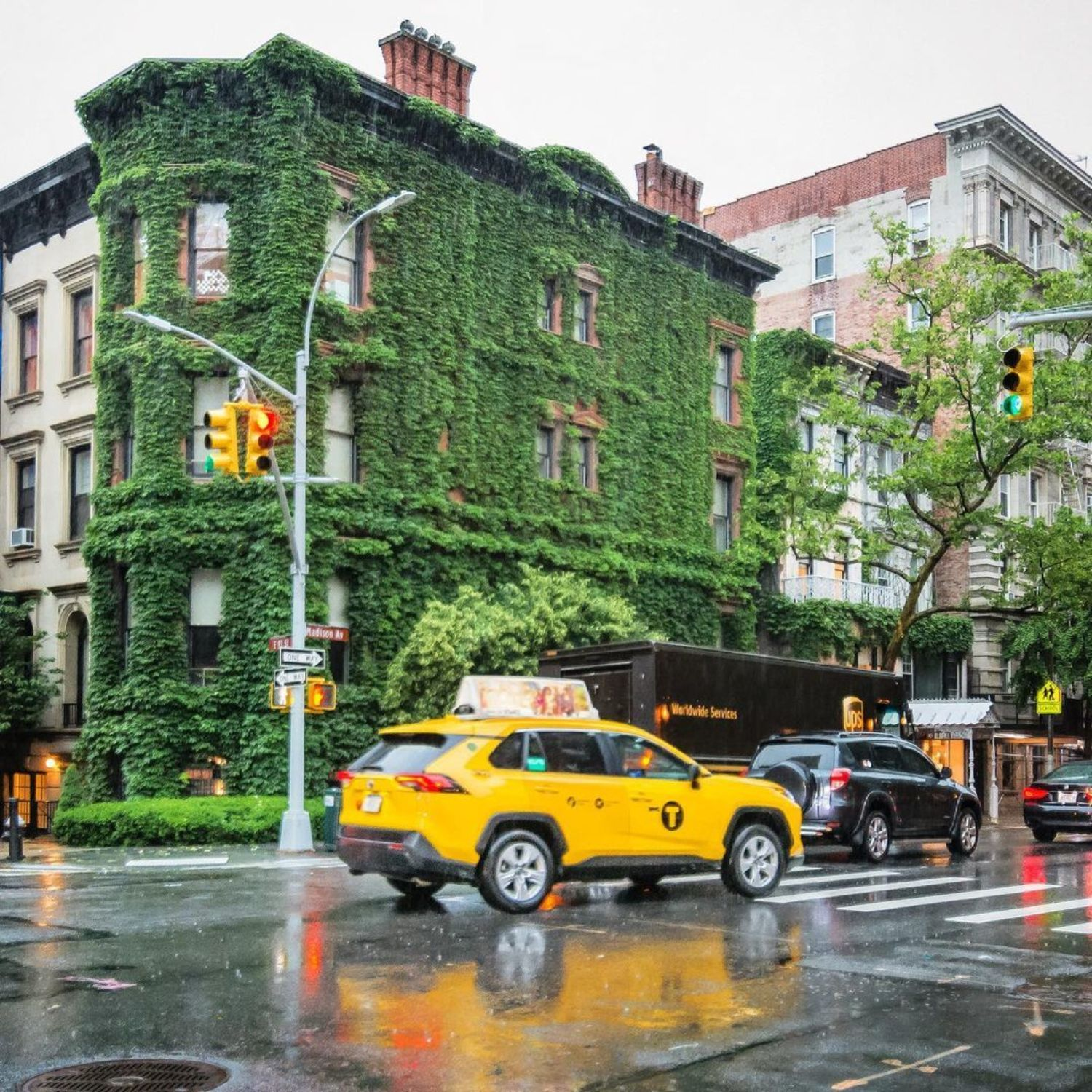 Madison Avenue and East 93rd Street, Upper East Side, Manhattan
