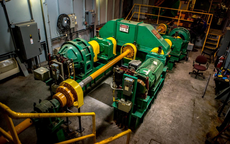 The hydraulic system.