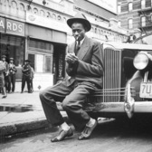 Baseball player Satchel Paige, Harlem, 1941.