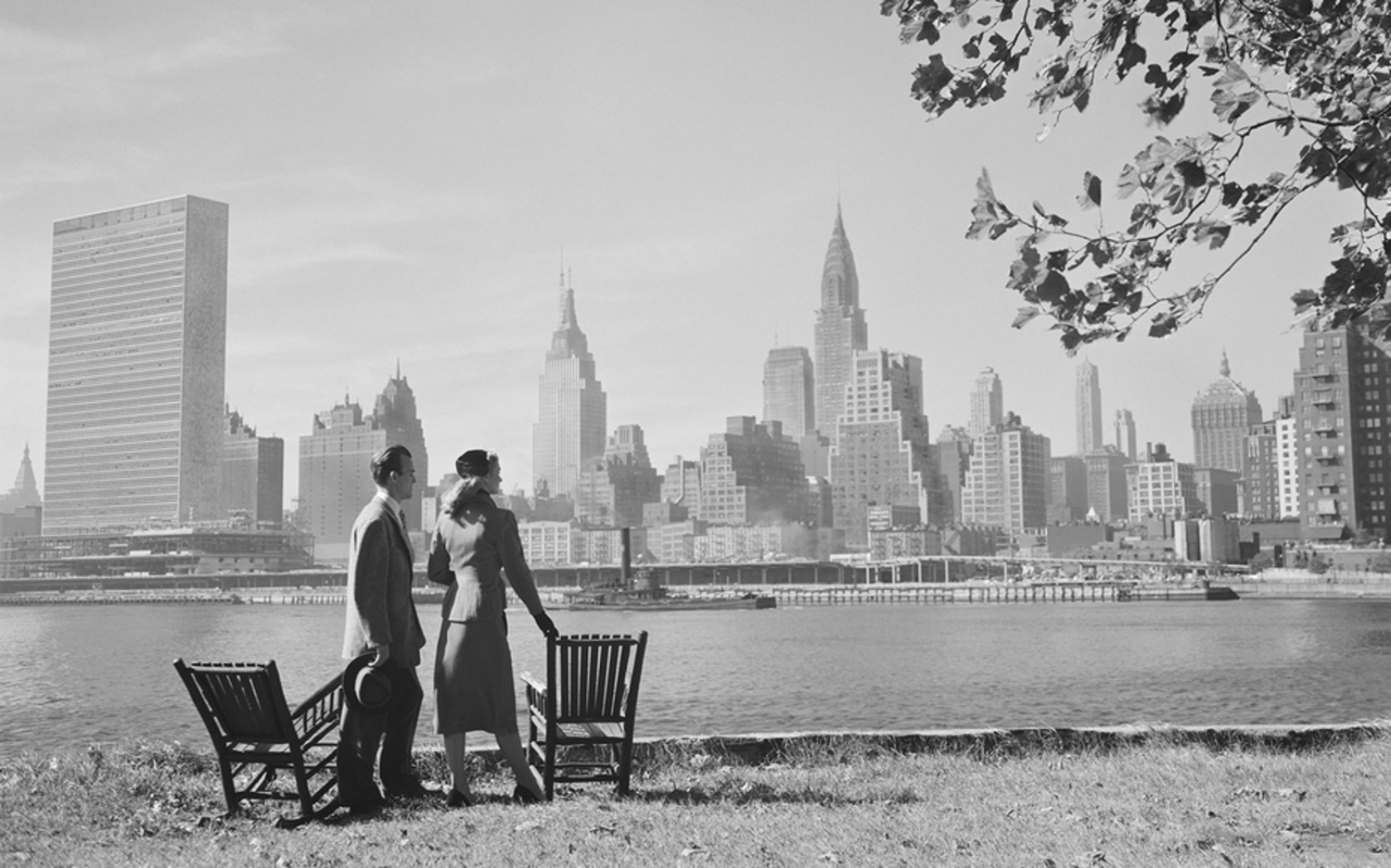 Check Out Times Square, The Brooklyn Bridge, and New York City's Sandy Beaches in the 1950s