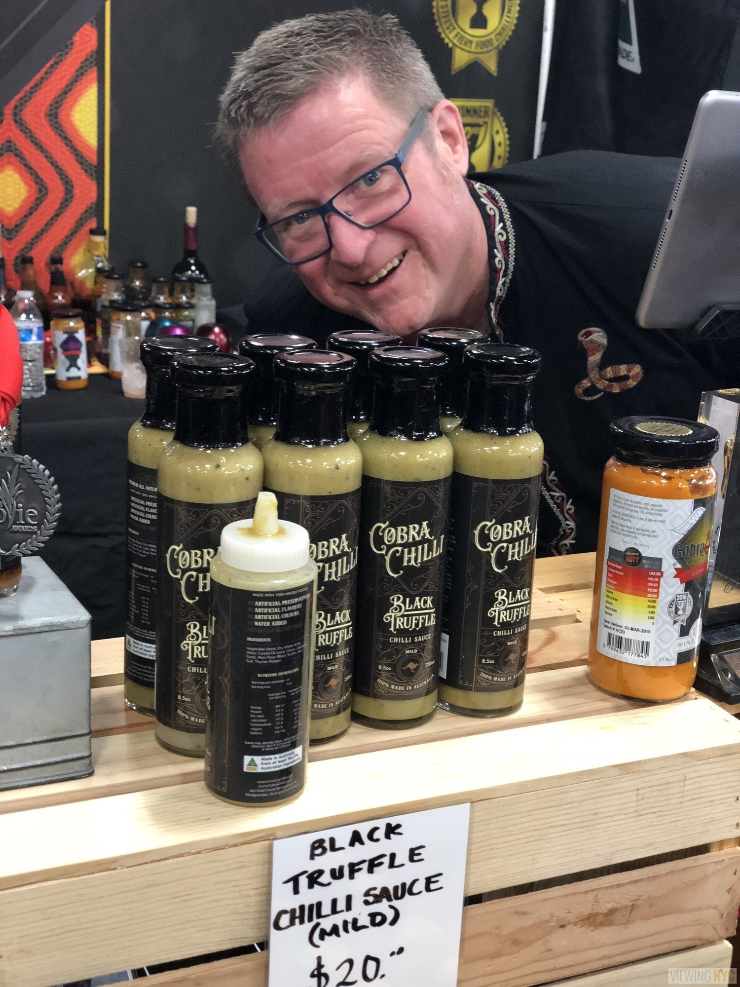 Cobra Chilli Black Truffle Chilli Sauce | 2018 New York City Hot Sauce Expo
