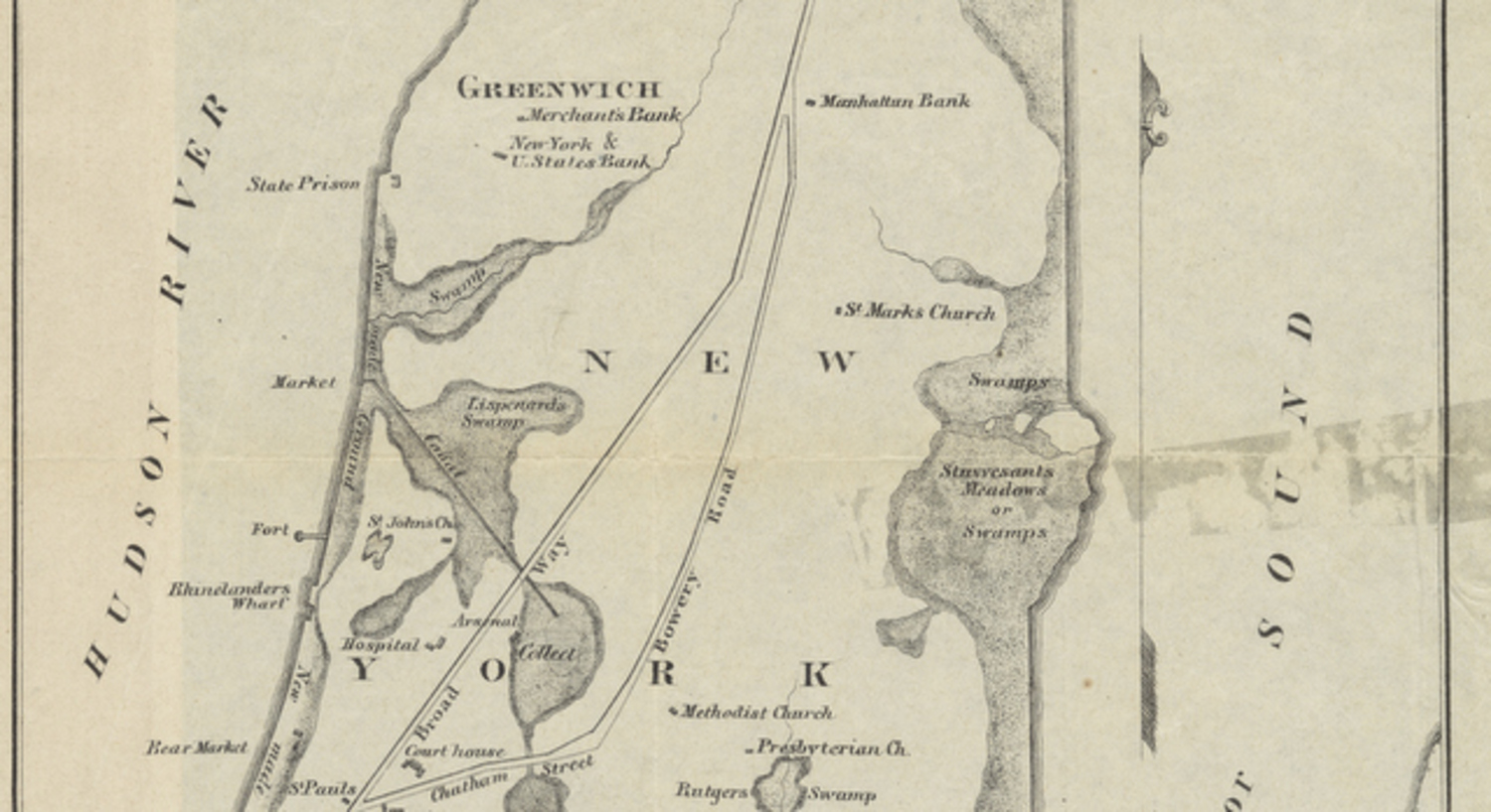 The Slips and Swamps of Early NYC (detail)