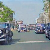 New York Between 1930s&1940s, Riverside Drive in color [60fps, Remastered] w/added sound