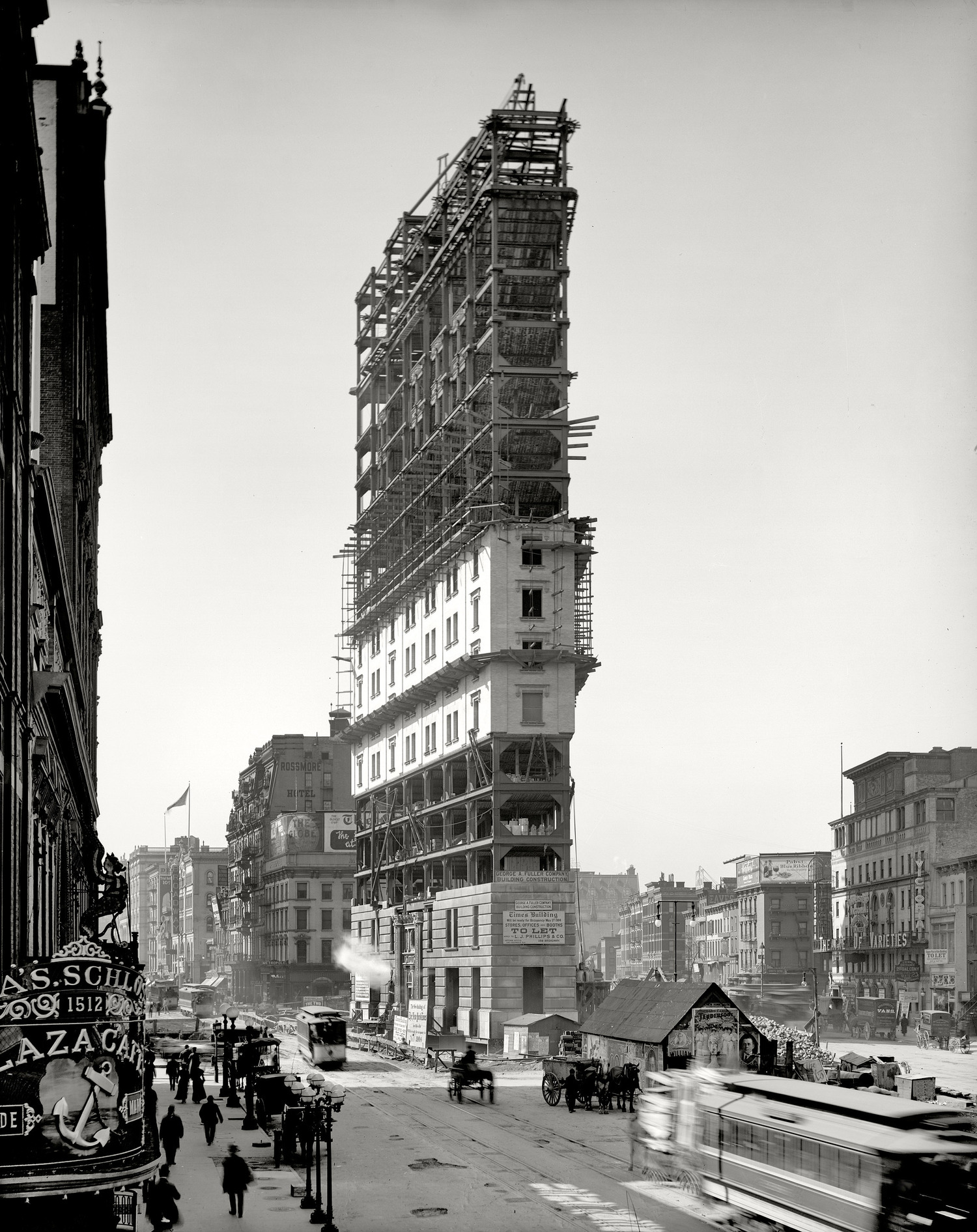 One Times Square under construction in 1903.