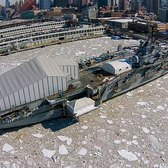 Drone Footage of the Icy Wasteland That Is the Hudson River