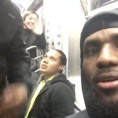 Just @KingJames & the @cavs making the Monday morning NY subway commute. NBD. https://t.co/kfCSNH1ghQ