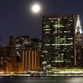 The Setting Moon over Midtown - Time-lapse videos of the moon setting over the Midtown skyline NYC