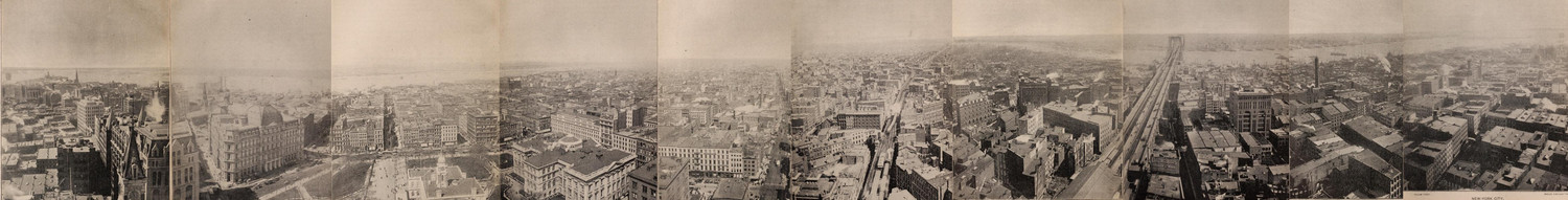 360° Panoramic View of New York City From The New York World Building in 1892