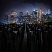 Lower Manhattan Skyline from Brooklyn Bridge Park